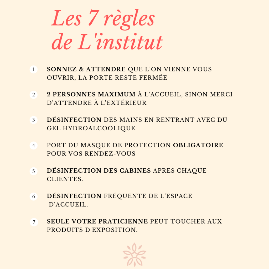 7 règles institut- site internet